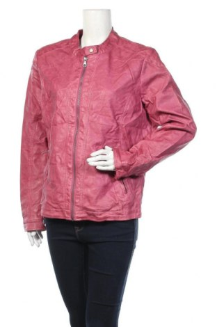 Дамско кожено яке Soccx, Размер XL, Цвят Розов, Еко кожа, Цена 28,67лв.