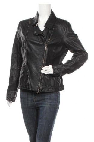 Дамско кожено яке Street One, Размер XL, Цвят Черен, Еко кожа, Цена 48,30лв.
