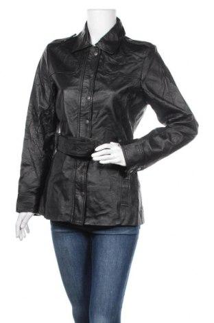 Дамско кожено яке Target, Размер L, Цвят Черен, Естествена кожа, Цена 74,76лв.