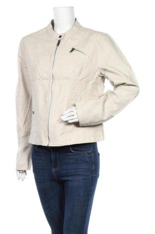 Дамско кожено яке Tissaia, Размер XL, Цвят Бежов, Еко кожа, Цена 45,15лв.
