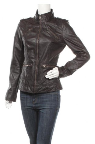 Дамско кожено яке Tom Tailor, Размер M, Цвят Кафяв, Естествена кожа, Цена 98,70лв.