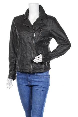 Γυναικείο δερμάτινο μπουφάν Up 2 Fashion, Μέγεθος M, Χρώμα Γκρί, Δερματίνη, Τιμή 12,28€