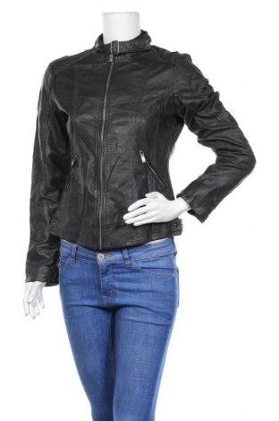 Γυναικείο δερμάτινο μπουφάν Up 2 Fashion, Μέγεθος S, Χρώμα Γκρί, Δερματίνη, Τιμή 12,28€