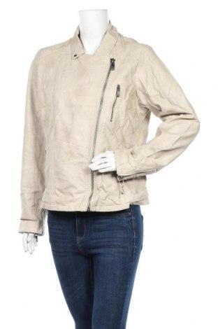 Γυναικείο δερμάτινο μπουφάν Up 2 Fashion, Μέγεθος L, Χρώμα  Μπέζ, Δερματίνη, Τιμή 22,64€
