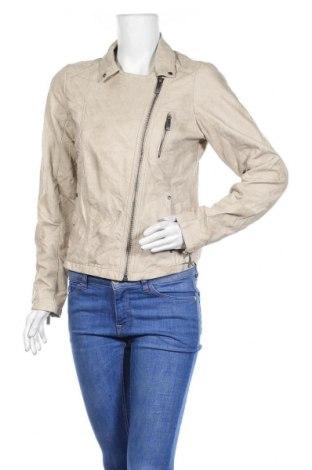 Γυναικείο δερμάτινο μπουφάν Up 2 Fashion, Μέγεθος S, Χρώμα  Μπέζ, Δερματίνη, Τιμή 10,46€