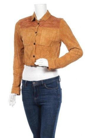 Γυναικείο δερμάτινο μπουφάν Urban Outfitters, Μέγεθος M, Χρώμα Καφέ, Φυσικό σουέτ, Τιμή 20,00€