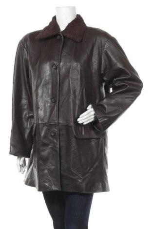 Дамско кожено яке Vakko, Размер L, Цвят Кафяв, Естествена кожа, Цена 19,86лв.