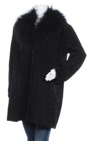 Дамско кожено яке Venezia Jeans, Размер XL, Цвят Черен, Естествен велур, Цена 36,38лв.
