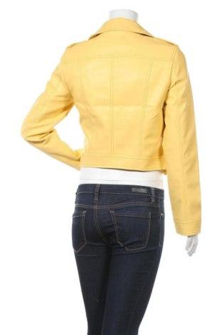 Дамско кожено яке Vero Moda, Размер M, Цвят Жълт, Еко кожа, Цена 45,82лв.