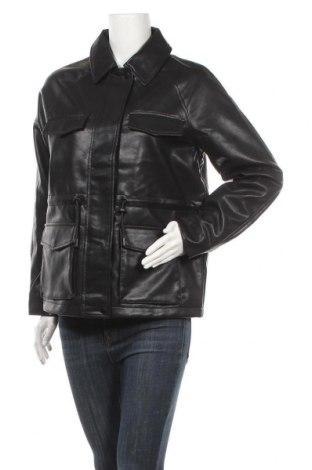 Дамско кожено яке Vero Moda, Размер S, Цвят Черен, Еко кожа, Цена 66,75лв.