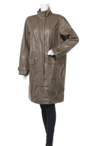 Дамски кожен шлифер Vero Moda, Размер XL, Цвят Зелен, Еко кожа, Цена 72,00лв.