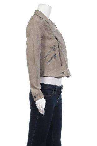 Дамско кожено яке Vero Moda, Размер S, Цвят Зелен, Естествен велур, Цена 114,50лв.
