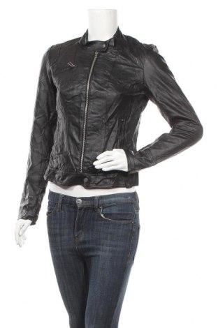 Дамско кожено яке Vero Moda, Размер M, Цвят Черен, Еко кожа, Цена 39,69лв.
