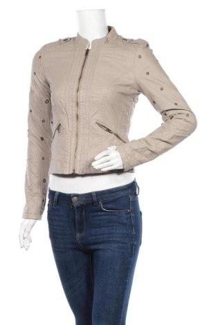 Дамско кожено яке Vero Moda, Размер S, Цвят Сив, Еко кожа, Цена 44,10лв.