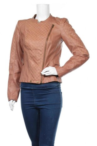 Дамско кожено яке Vero Moda, Размер M, Цвят Кафяв, Еко кожа, Цена 35,70лв.