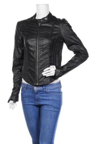 Дамско кожено яке Vero Moda, Размер M, Цвят Черен, Еко кожа, Цена 44,10лв.