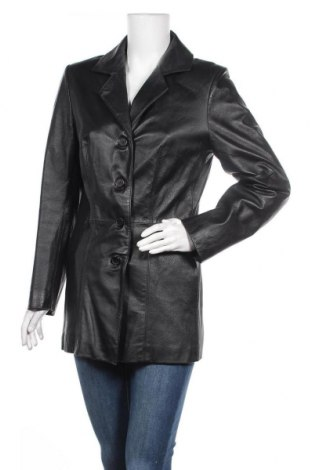 Γυναικείο δερμάτινο μπουφάν Vivien Caron, Μέγεθος M, Χρώμα Μαύρο, Γνήσιο δέρμα, Τιμή 20,26€