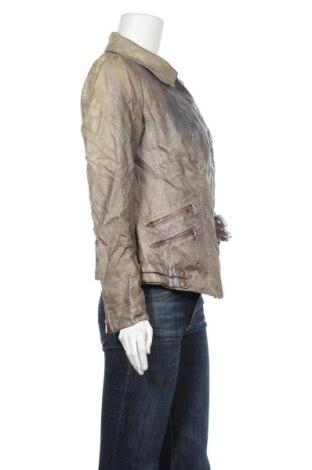 Дамско кожено яке Woman By Tchibo, Размер L, Цвят Зелен, Еко кожа, Цена 35,91лв.