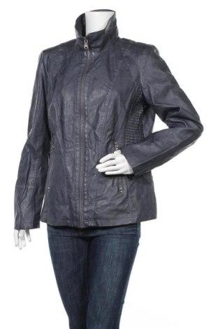 Дамско кожено яке Woman By Tchibo, Размер XL, Цвят Син, Еко кожа, Цена 38,75лв.