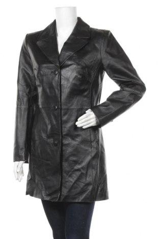 Дамско кожено яке Woman's Fashion, Размер M, Цвят Черен, Естествена кожа, Цена 24,94лв.