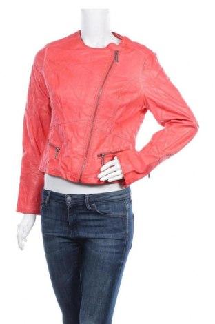 Дамско кожено яке Yaya, Размер XL, Цвят Оранжев, Еко кожа, Цена 20,79лв.