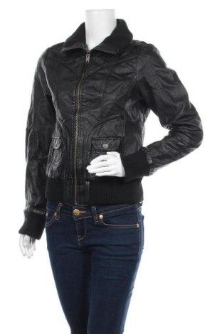 Дамско кожено яке Yessica, Размер S, Цвят Черен, Естествена кожа, Цена 72,45лв.