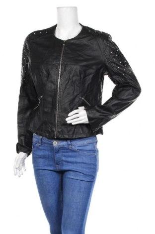 Дамско кожено яке Yessica, Размер XL, Цвят Черен, Еко кожа, Цена 27,56лв.