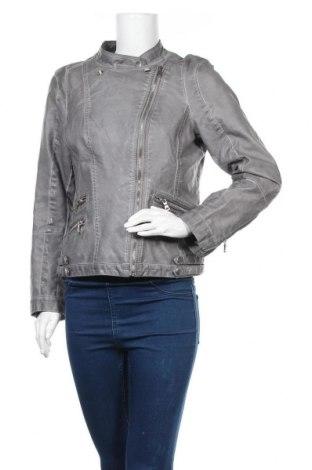 Γυναικείο δερμάτινο μπουφάν Yessica, Μέγεθος L, Χρώμα Γκρί, Δερματίνη, Τιμή 12,34€
