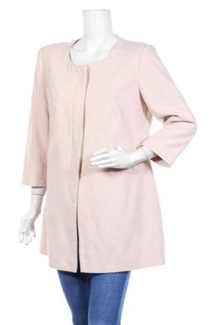 Дамско палто, Размер M, Цвят Бежов, 68% полиестер, 26% вискоза, 6% еластан, Цена 33,86лв.