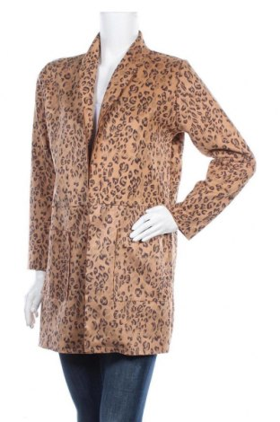Дамско палто Made In Italy, Размер M, Цвят Кафяв, 90% полиестер, 10% еластан, Цена 30,35лв.
