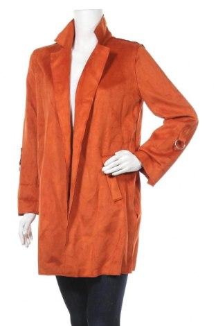 Дамско палто Bershka, Размер M, Цвят Оранжев, 90% полиестер, 10% еластан, Цена 19,55лв.