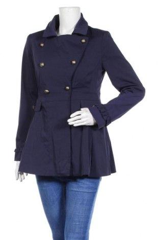 Γυναικείο παλτό Buffalo, Μέγεθος S, Χρώμα Μπλέ, 68% πολυεστέρας, 30% βαμβάκι, 2% ελαστάνη, Τιμή 25,14€