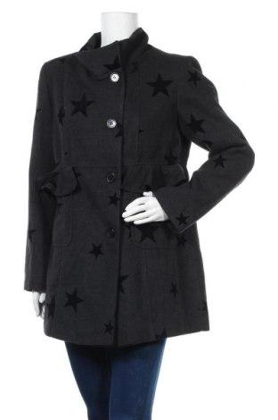 Дамско палто Camomilla, Размер XL, Цвят Сив, 85% полиестер, 12% вискоза, 3% еластан, Цена 134,25лв.