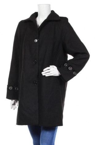 Дамско палто Camomilla, Размер L, Цвят Черен, 85% полиестер, 12% вискоза, 3% еластан, Цена 90,72лв.