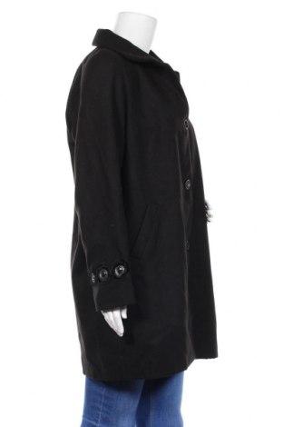 Дамско палто Camomilla, Размер L, Цвят Черен, 85% полиестер, 12% вискоза, 3% еластан, Цена 71,82лв.