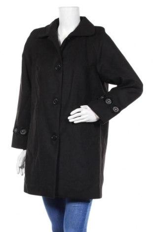 Дамско палто Camomilla, Размер M, Цвят Черен, 85% полиестер, 12% вискоза, 3% еластан, Цена 90,72лв.
