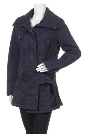 Дамско палто Edc By Esprit, Размер L, Цвят Син, Памук, Цена 39,69лв.