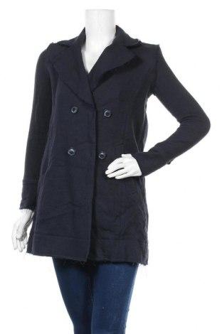 Дамско палто Frame, Размер XS, Цвят Син, 80% памук, 19% вълна, 1% полиамид, Цена 17,22лв.