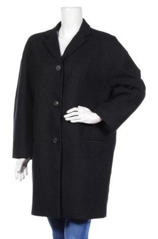 Дамско палто Gap, Размер L, Цвят Син, 59% вълна, 24% полиестер, 13% полиамид, 4% други материали, Цена 48,96лв.