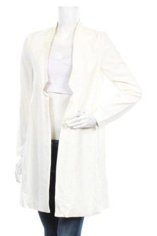 Дамско палто H&M, Размер S, Цвят Екрю, 63% полиестер, 33% вискоза, 4% еластан, Цена 28,67лв.