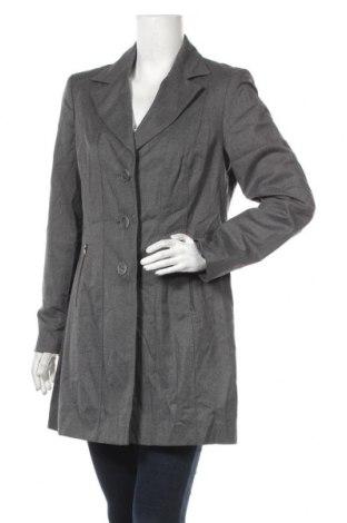 Дамско палто Kapalua, Размер M, Цвят Сив, 50% полиестер, 49% вискоза, 1% еластан, Цена 12,08лв.