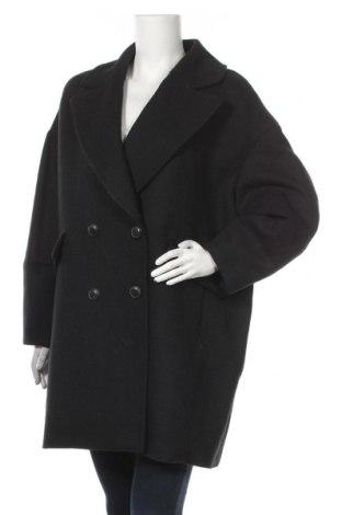 Дамско палто Mango, Размер L, Цвят Зелен, 37% полиестер, 33% вълна, 25% акрил, 3% полиамид, 2% памук, Цена 64,08лв.