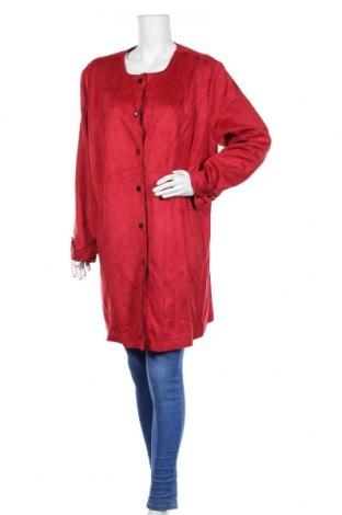 Дамско палто Mia Moda, Размер XXL, Цвят Червен, 96% полиестер, 4% еластан, Цена 38,64лв.