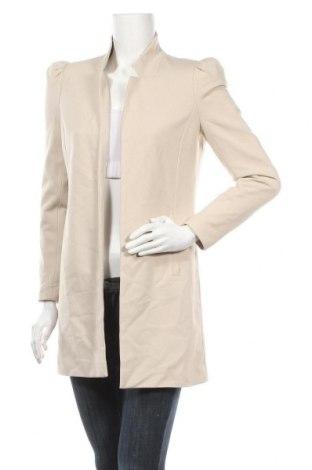 Дамско палто ONLY, Размер S, Цвят Бежов, 63% вискоза, 32% полиамид, 5% еластан, Цена 40,05лв.