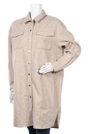 Дамско палто ONLY, Размер S, Цвят Бежов, Полиестер, Цена 45,82лв.