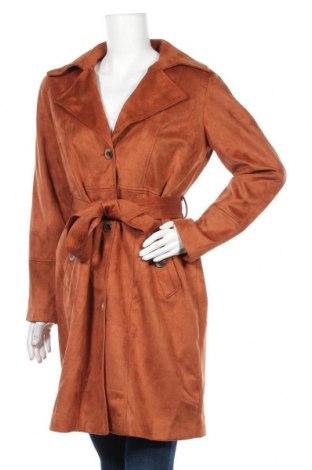Дамско палто Vila, Размер M, Цвят Кафяв, Цена 51,62лв.