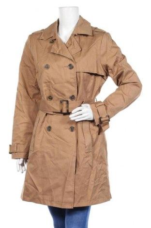 Дамско палто Yessica, Размер L, Цвят Бежов, 68% памук, 32% полиестер, Цена 39,69лв.