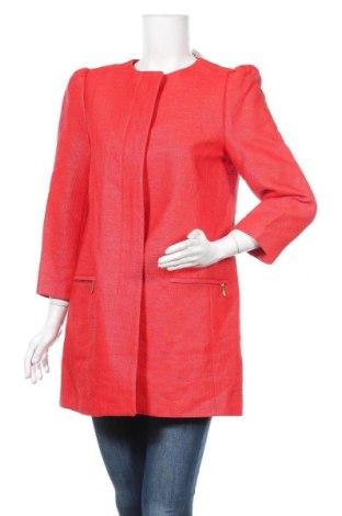 Дамско палто Zara, Размер L, Цвят Червен, Цена 75,60лв.