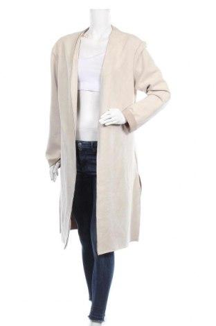 Дамско палто Zara, Размер M, Цвят Бежов, 88% полиестер, 12% еластан, Цена 28,94лв.