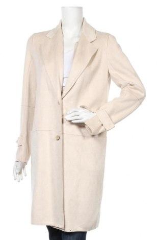 Дамско палто Zara, Размер M, Цвят Бежов, Полиестер, Цена 44,45лв.